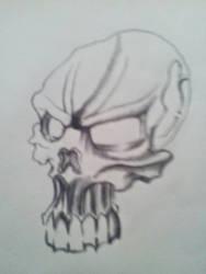 Insane skull that I created. by CodyMajor69