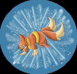 Floatzel used Blizzard by Hedgey
