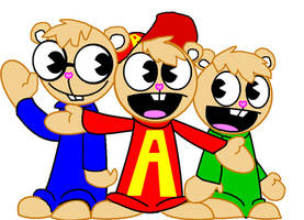 Alvin and the happy tree munks by lacheetara