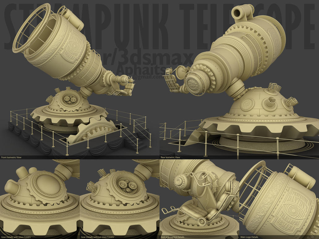 Steampunk Telescope by aphaits
