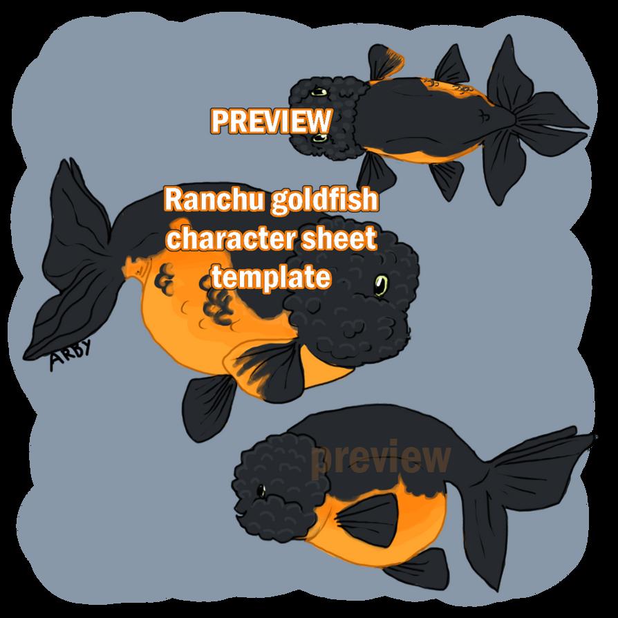 Ranchu goldfish template base [P2U 80 points]