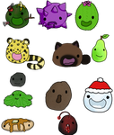 Some New Slime Rancher Slimes by Arbutusridge