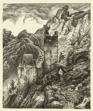 Castle on Hill by GwilymG