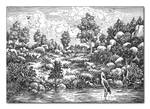 Landscape with a heron