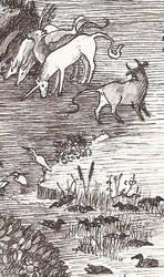 Detail of Hieronymus Bosch's bizarre Flora