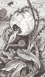 Detail 2 of Hieronymus Bosch's bizarre Flora