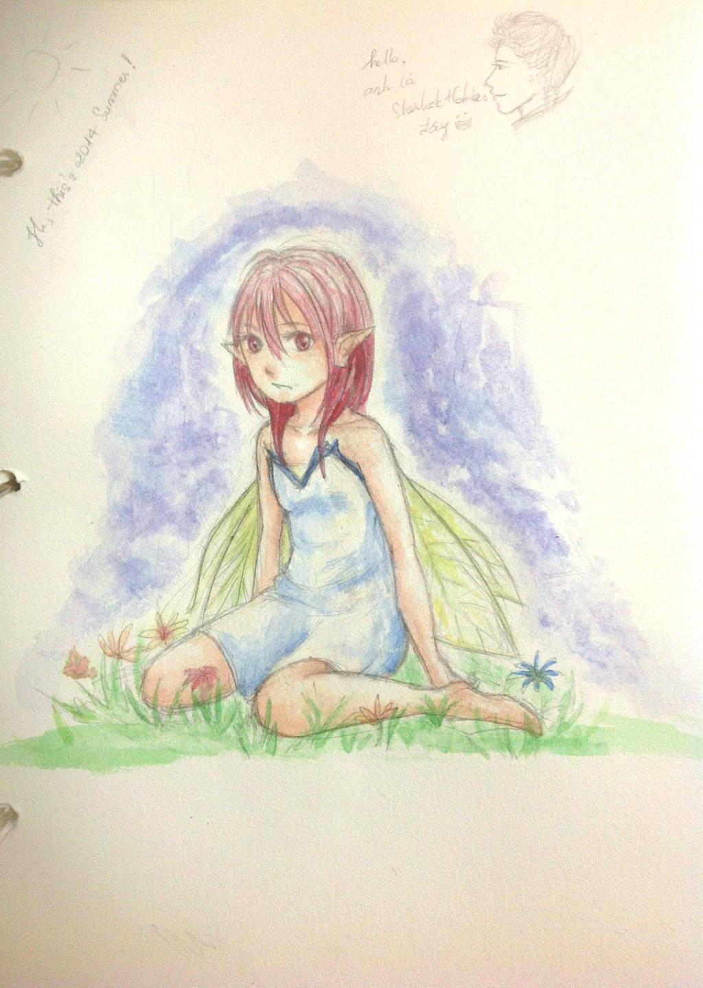[Random Art] Red Hair Fairy by HiiragiAzayaka