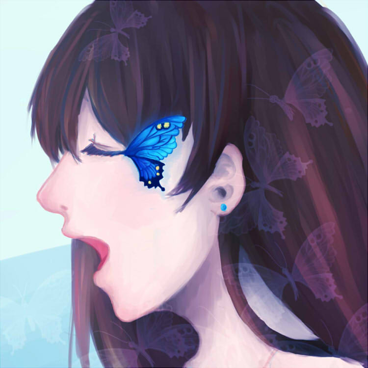 Blue Butterfly by HiiragiAzayaka