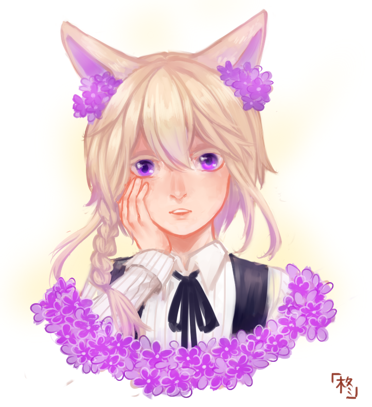 [request] Girl with Flowers by HiiragiAzayaka