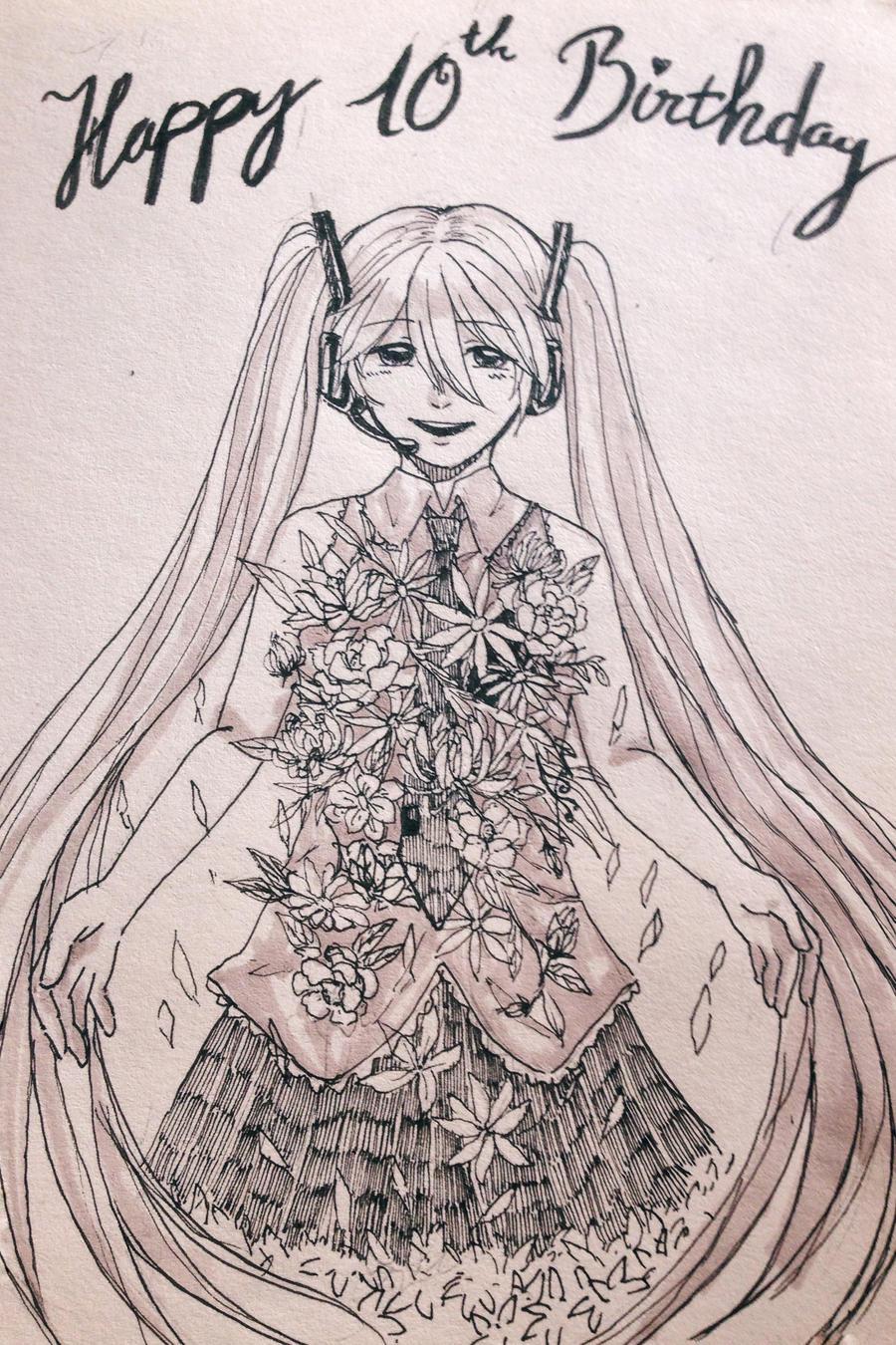 [Fanart] Happy birthday! by HiiragiAzayaka
