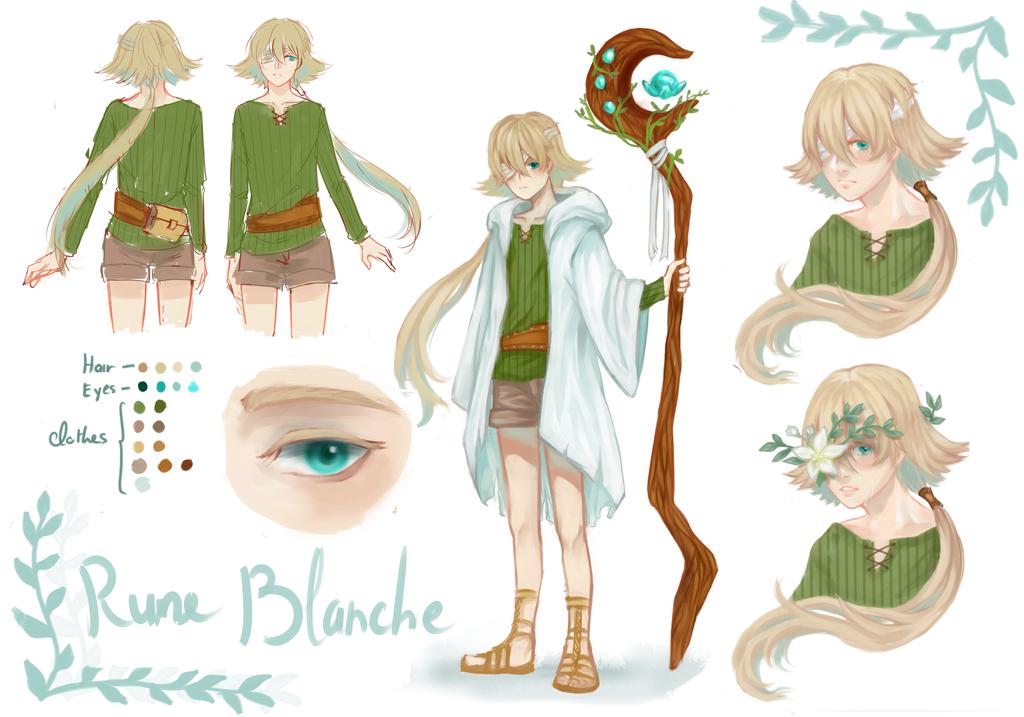 [OC] Character sheet - Rune Blanche by HiiragiAzayaka