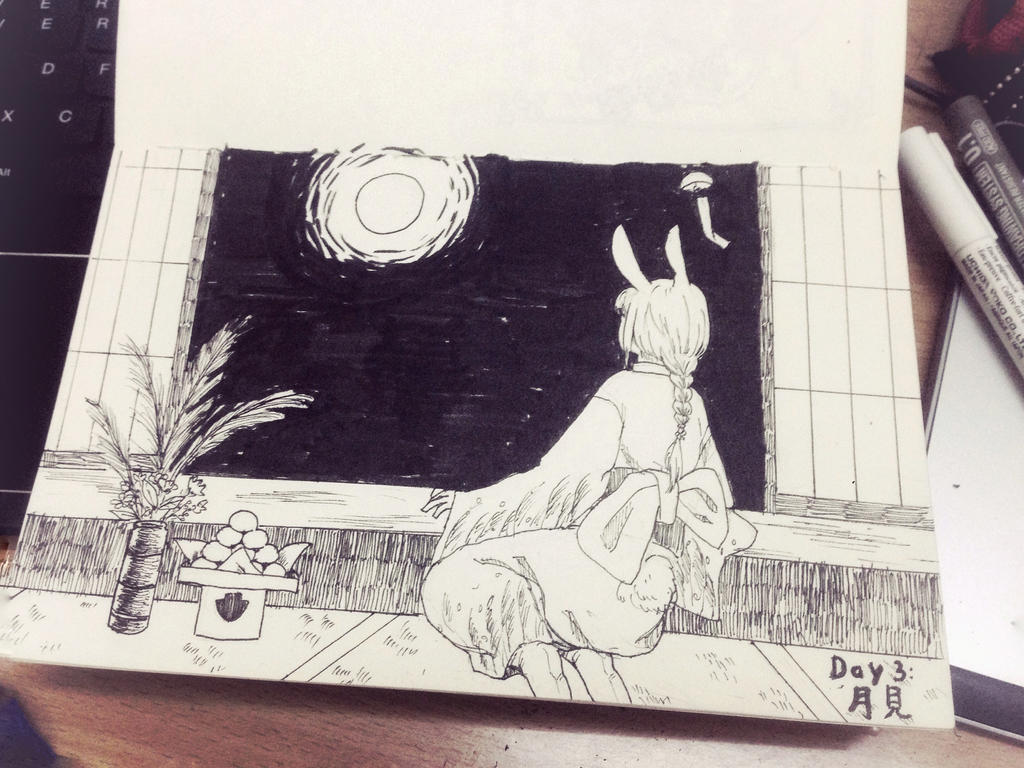 Moon Viewing by HiiragiAzayaka
