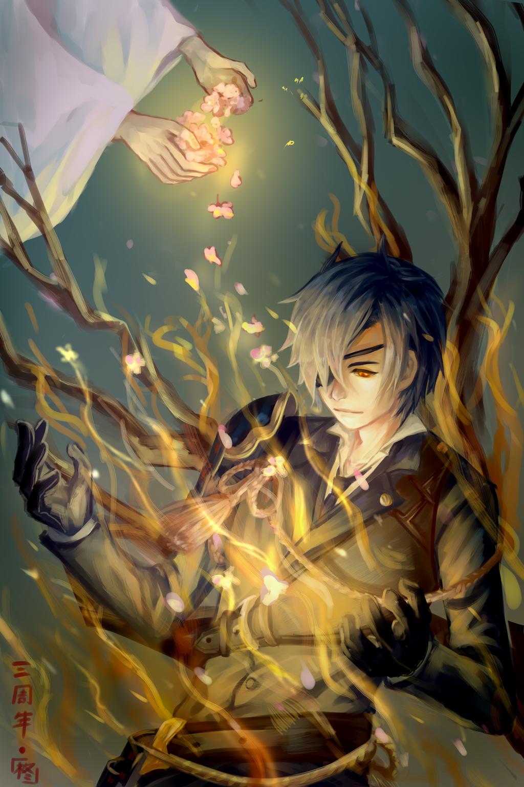 [Fanart] Gentle flame by HiiragiAzayaka