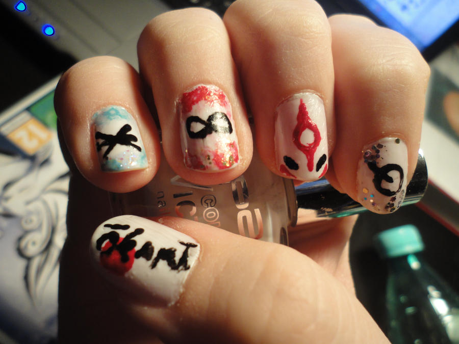 Okami Nail Art no 1 by AngieAmazing on DeviantArt