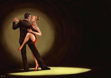 Dancing couple by OZtheW1ZARD