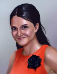 Female portrait by OZtheW1ZARD