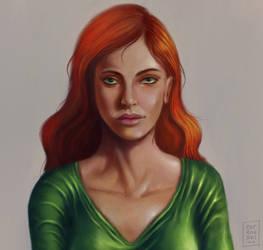 Jean-Grey - portrait by OZtheW1ZARD