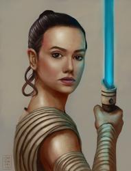 Rey - Daisy Ridley by OZtheW1ZARD