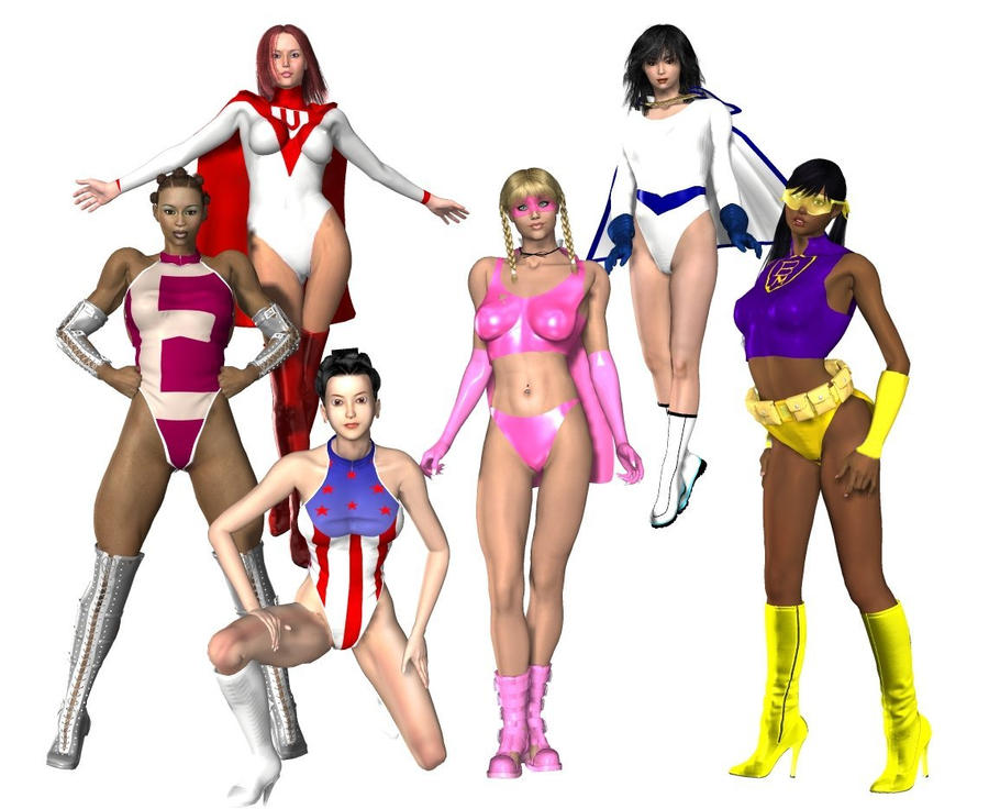 SUPERHEROINES by cattle6