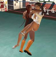 Wrestling Ballerina vs. Deniece 4 by cattle6