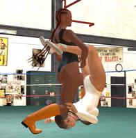 Wrestling Ballerina vs. Deniece 5 by cattle6