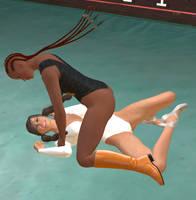 Wrestling Ballerina vs. Deneice 8 by cattle6