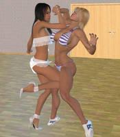 Dance studio fight 3 by cattle6
