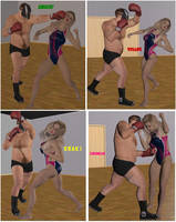 Mixed wrestling match 93 by cattle6