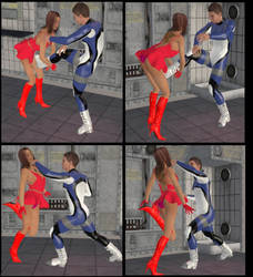 Superheroine  Surprise Attacked