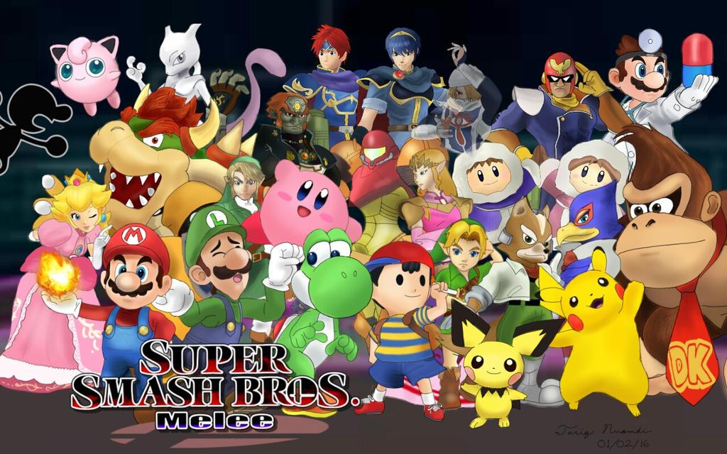 Super smash bros melee characters by mariokero345 on deviantart