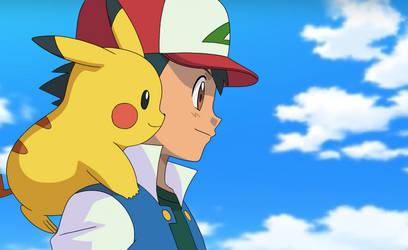 Ash and Pikachu Original Series: XY Style by MarioKero345