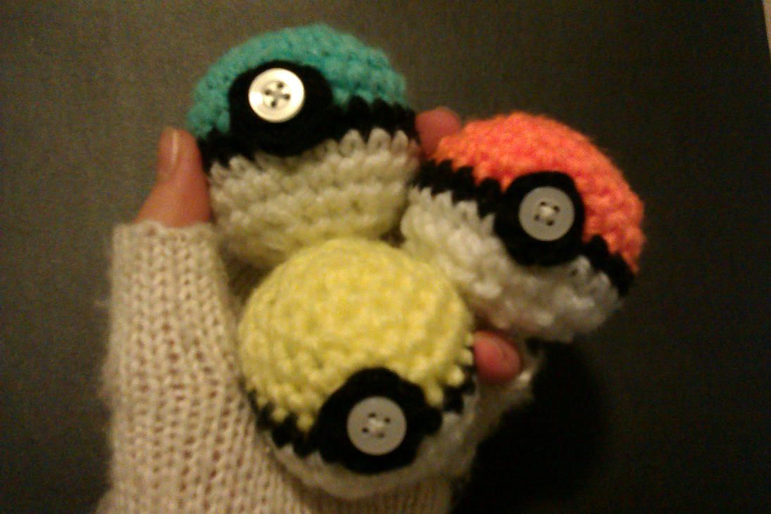 Rainbow Pokeballs 1 by ShoopOnTheMoon