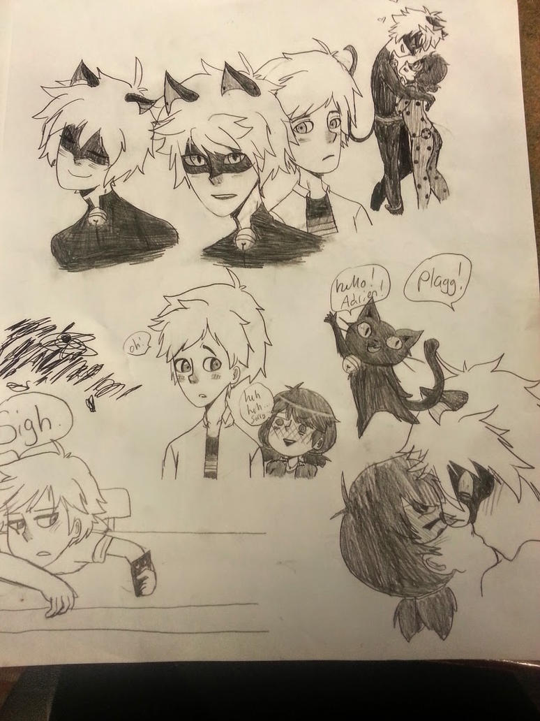 Miraculous LadyBug Sketches By Witchchick37 ...