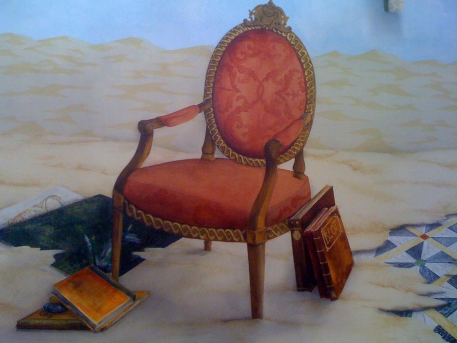trompe d oeil wallpaper. trompe l'oeil fauteuille by ~joffrey51 on deviantART