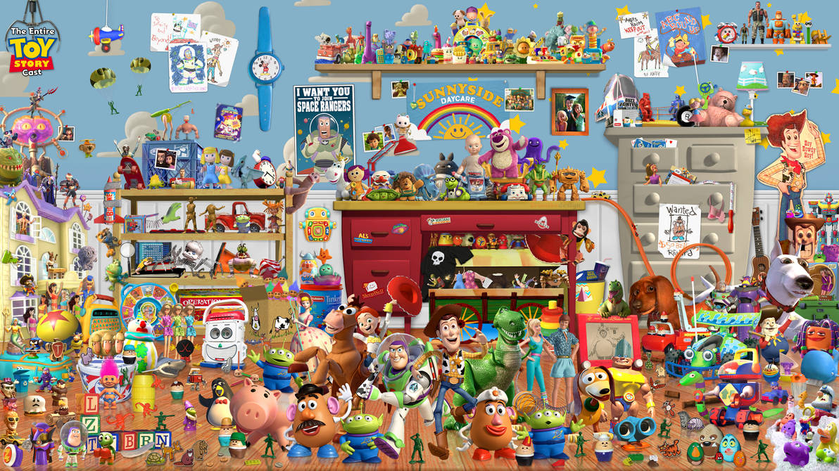 The Entire Toy Story Cast Wallpaper by Drums107 ...
