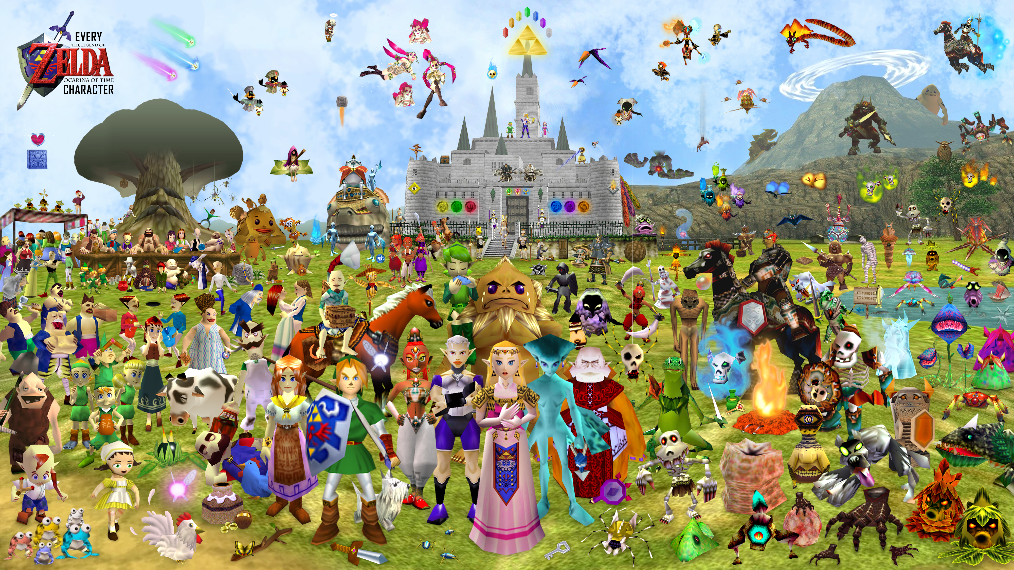 Every Character In Legend of Zelda Ocarina of Time