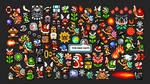 Every Enemy In Super Mario Bros 3 Wallpaper