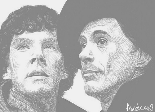 Sherlock and Holmes by Shamanmy