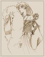 Scetch of sesshomaru by saiyukilover
