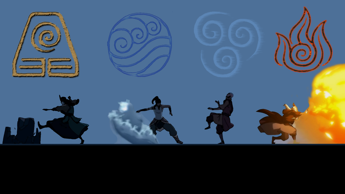 The Legend of Korra: Four Element Opening by iammrx