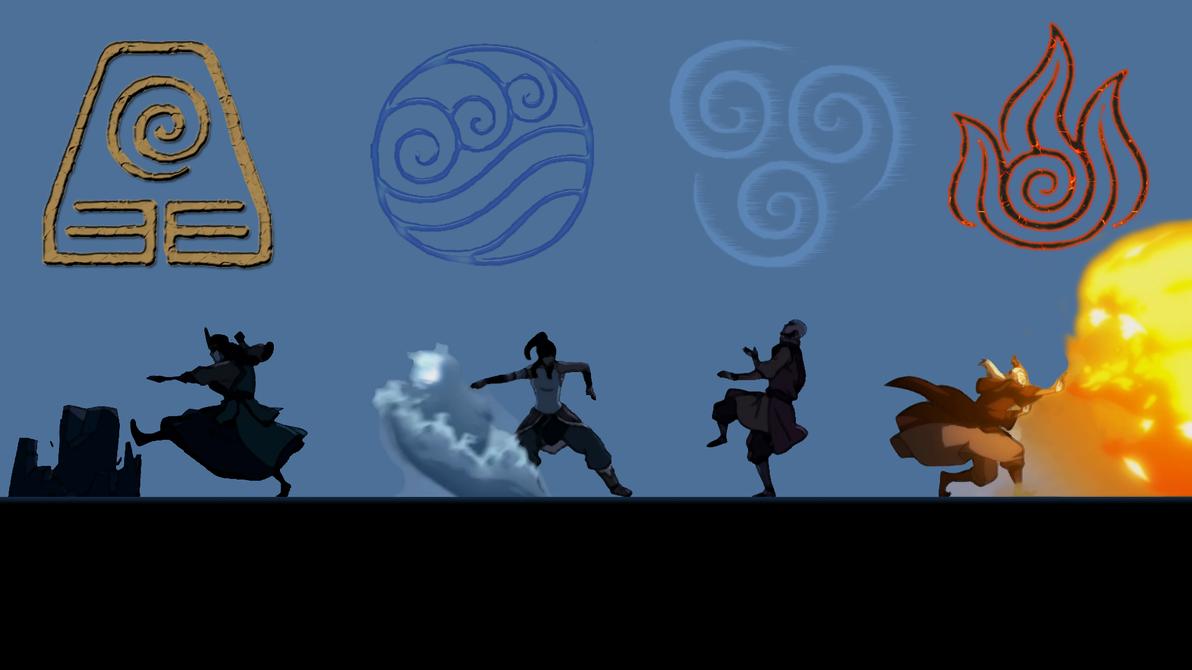 the legend of korra four element opening by iammrx on deviantart