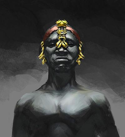 Elementales.  Tribal_wrestlers_by_takumer-d5bz0z1