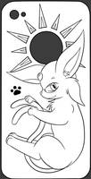 Commission - Espeon iPhone Case by FreeSpirit59
