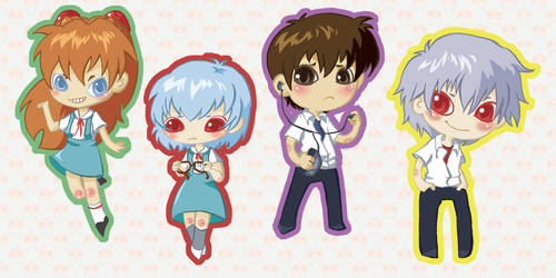 Evangelion Bookmarks by all-day
