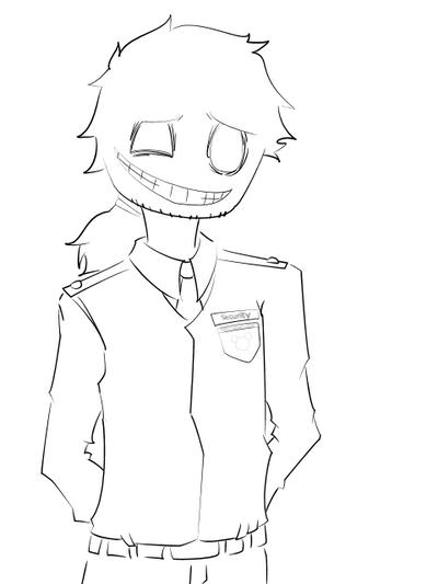Fnaf purple guy line art by loveless yokai on deviantart for Fnaf anime coloring pages