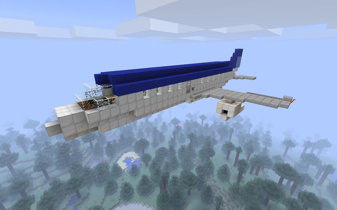 Minecraft как сделать самолёт с модом