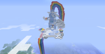 Rainbow Dash's Cloud House in Minecraft by bronzewolf78