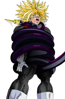 Trunks ''tied up'' by Cell's tail
