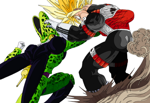Trunks gets smashed by Cell