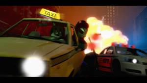 Sevy Rides a Taxi